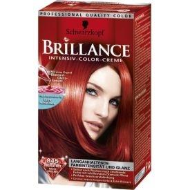 Schwarzkopf Brillance Dauerhafte Haarfarbe Intensiv-Color-Creme 845 Brokat Rot