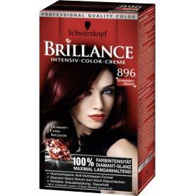 Schwarzkopf Brillance Dauerhafte Haarfarbe Intensiv-Color-Creme 896 Schwarzrot Organdi