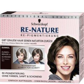 Re-nature Dauerhafte Haarfarbe Re-Pigmentierung für Frauen Dunkelbraun bis Schwarz