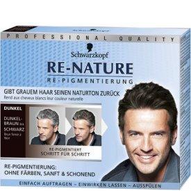 Re-nature Dauerhafte Haarfarbe Repigmentierung für Männer Dunkelbraun bis Schwarz