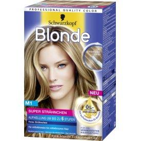Schwarzkopf Blonde Strähnchenfarbe M1 Super Stufe 3