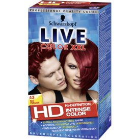 Live Color XXL Dauerhafte Haarfarbe Coloration Stufe 3  43 Red Passion