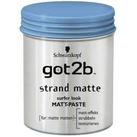 Got2b Haarwax strand matte, Surfer Look Matt-Paste