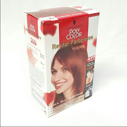 Poly Color Dauerhafte Haarfarbe Farbcreme Revital 477 Herbstrot