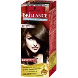 Schwarzkopf Brillance Haartönung Creme-Glanz Stufe 1, T880 Dunkelbraun (Gel)