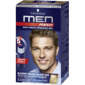 Men perfect Haartönung Anti-Grau 40 Natur Dunkelblond Stufe 2