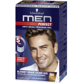 Men perfect Haartönung Anti-Grau 50 Natur Hellbraun Stufe 2