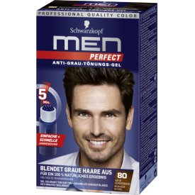Men perfect Haartönung Anti-Grau Color 80 Schwarzbraun