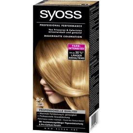 Schwarzkopf Syoss Dauerhafte Haarfabe Coloration  Professional Performance 8-7 Honigblond Stufe 3