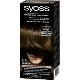 Schwarzkopf Syoss Dauerhafte Haarfabe Coloration Professional Performance  4-6 Schokobraun Stufe 3