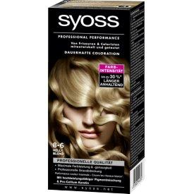 Schwarzkopf Syoss Dauerhafte Haarfabe Coloration Professional Performance  8-6 Hellblond Stufe 3