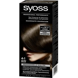 Schwarzkopf Syoss Coloration Professional Performance 4-1 Mittelbraun Stufe 3