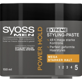 Schwarzkopf Syoss Haarwax Styling Paste MEN Power Hold Extrem starker Halt 5