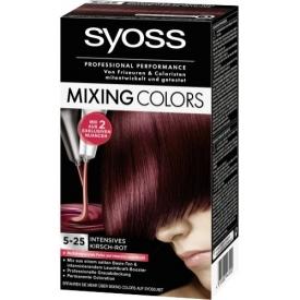 Schwarzkopf Syoss Dauerhafte Haarfabe Coloration Mixing Colors 5-25 Kirsch-Rot-Mix