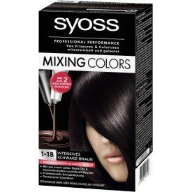 Schwarzkopf Syoss Dauerhafte Haarfabe Coloration Mixing Colors 1-18 Schoko-Dunkelbraun-Mix