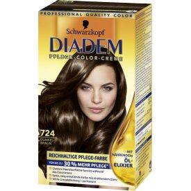 Schwarzkopf Diadem Dauerhafte Haarfarbe Seiden-Color-Creme 724 Dunkelbraun