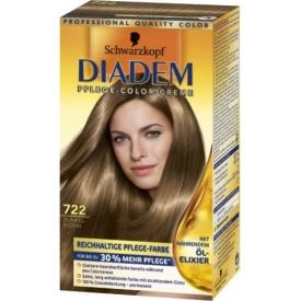 Schwarzkopf Diadem Dauerhafte Haarfarbe Seiden-Color-Creme 722 Dunkelblond
