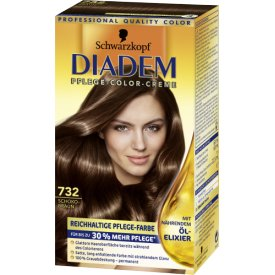 Schwarzkopf Diadem Dauerhafte Haarfarbe Seiden-Color-Creme 732 Schokobraun