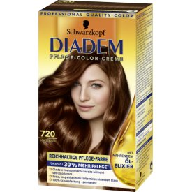 Schwarzkopf Diadem Dauerhafte Haarfarbe Seiden-Color-Creme 720 Kastanie