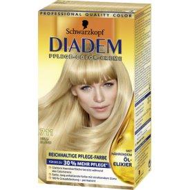 Schwarzkopf Diadem Dauerhafte Haarfarbe Seiden-Color-Creme 711 Hellblond
