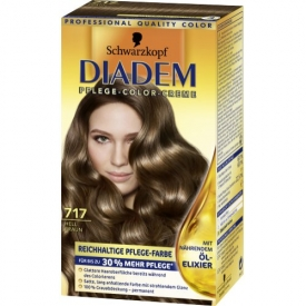 Schwarzkopf Diadem Dauerhafte Haarfarbe Seiden-Color-Creme 717 Hellbraun