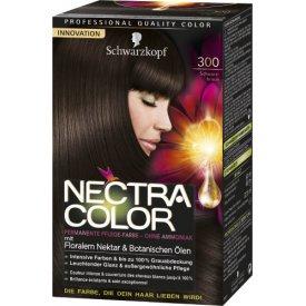 Nectra Color Dauerhafte Haarfarbe Pflege Coloration Schwarzbraun 300