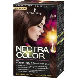 Nectra Color Permanente Coloration 568 Kastanienbraun