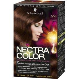 Nectra Color Dauerhafte Haarfarbe Coloration Helle Kastanie 668