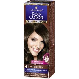 Poly Color Dauerhafte Haarfarbe Creme Mittelbraun 41