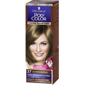 Poly Color Dauerhafte Haarfarbe Creme Dunkelblond 37
