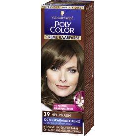 Poly Color Dauerhafte Haarfarbe Creme Hellbraun 39