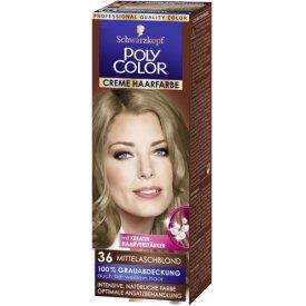 Poly Color Dauerhafte Haarfarbe Creme 36 Mittelaschblond