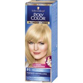 Poly Color Dauerhafte Haarfarbe Creme 91 Hellblond