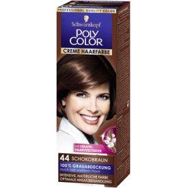Poly Color Dauerhafte Haarfarbe Creme Schokobraun  44