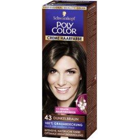 Poly Color Dauerhafte Haarfarbe Creme Dunkelbraun 43