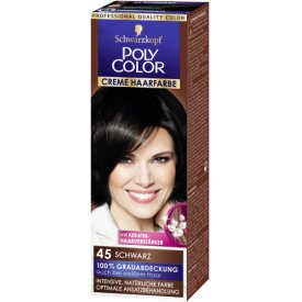 Poly Color Creme Haarfarbe Schwarz 45