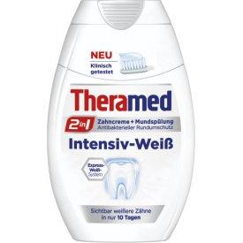 Theramed Zahncreme und Mundspülung Intensiv Weiß