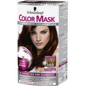 Color mask Dauerhafte Haarfarbe Permanent Coloration 368 Dunkles Rotbraun