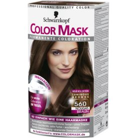 Color mask Dauerhafte Haarfarbe Permanent Coloration 560 Nougatbraun
