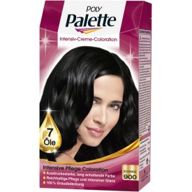 Poly Palette Dauerhafte Haarfarbe Intensive Creme Coloration Schwarz 900