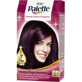 Poly Palette Dauerhafte Haarfarbe Intensive Creme Coloration Aubergine 880