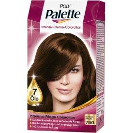 Poly Palette Dauerhafte Haarfarbe Intensiv Creme Coloration 750 schokobraun
