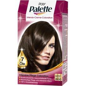 Poly Palette Dauerhafte Haarfarbe Intensive Creme Coloration Dunkelbraun 800