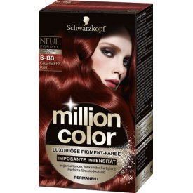 Million Color Dauerhafte Haarfarbe Intensiv-Pigment-Farbe Cashmere Rot 6-88