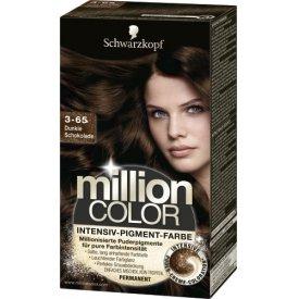 Million Color Dauerhafte Haarfarbe Intensiv-Pigment-Farbe Dunkle Schokolade 3-65