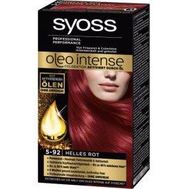 Schwarzkopf Syoss Dauerhafte Haarfabe Coloration Oleo Intense 5 - 92 helles Rot