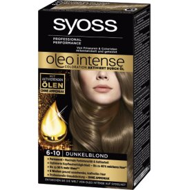 Schwarzkopf Syoss Dauerhafte Haarfabe Coloration Oleo Intense  6 - 10 dunkelblond