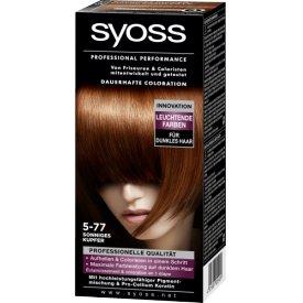 Schwarzkopf Syoss Dauerhafte Haarfabe Coloration Professional Performance 5-77 sonniges Kupfer