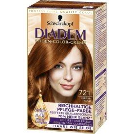 Schwarzkopf Diadem Dauerhafte Haarfarbe Pflege Color Creme 721 Herbstgold