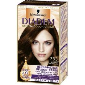 Schwarzkopf Diadem Dauerhafte Haarfarbe Seiden Color Creme 733 dunkles Schokobraun
